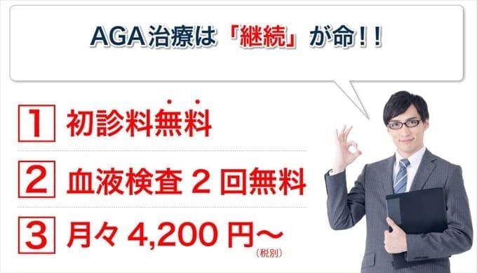 AGA治療を継続しやすい治療価格設定!